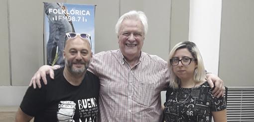 Héctor Larrea recibió a Cucuza Castiello