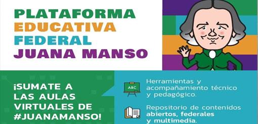 """El Ministerio de Educación lanzó la plataforma educativa """"Juana Manso"""""""
