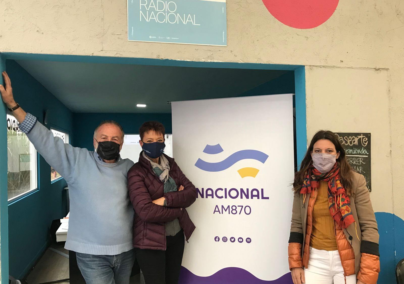 Horacio Embón y Luisa Valmaggia junto a Maria Rosenfeldt, directora de Tecnópolis