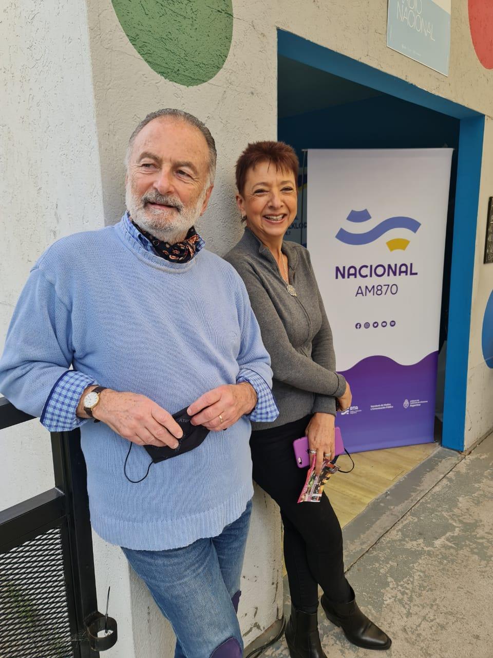 Radio Nacional presente en Tecnópolis- Horacio Embón y Luisa Valmaggia